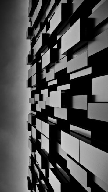 3D Abstract Art Dark Cubes Wall iPhone Images.