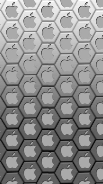 Apple Logo Set Black Background for Iphone.
