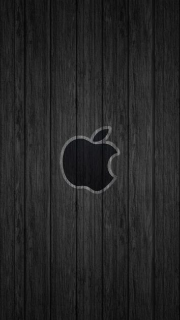 Apple Logo Wood Background for Iphone.