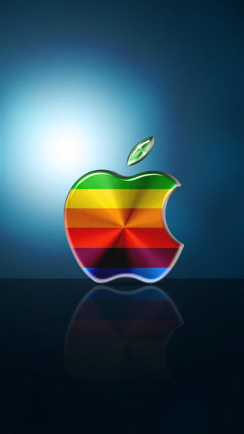 Colorful Apple Logo Background for Iphone.