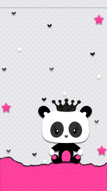Cute Panda iPhone Wallpaper.