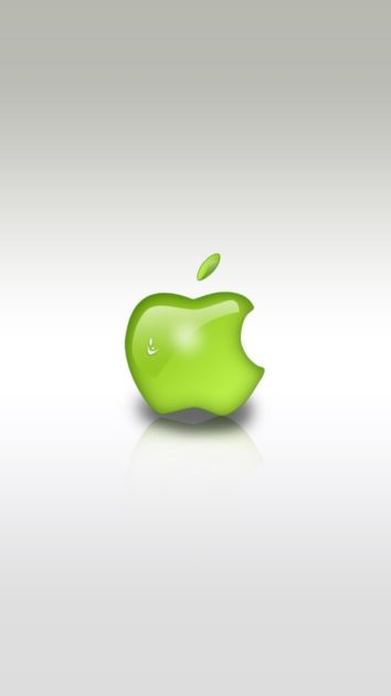 Download Free Green Apple Logo Wallpaper for Iphone.