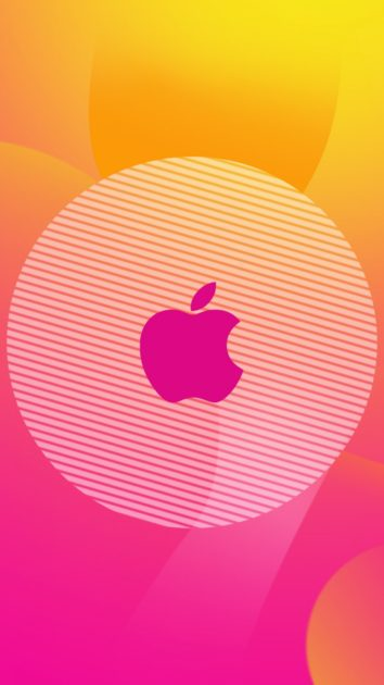 Pink Right Apple Logo Wallpaper for Iphone.
