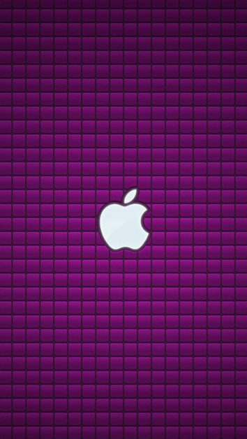 Purple Apple Logo Iphone Background.