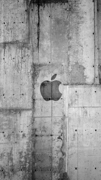Wide Apple Logo Wallpaper for Iphone.